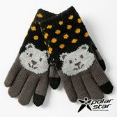 PolarStar 兒童 觸控保暖手套(熊)『黑』台灣製造│兒童保暖手套│觸控手套│刷毛手套 P18618