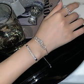 手鏈女高級感冷淡風圓環簡約鋯石小眾設計【聚寶屋】
