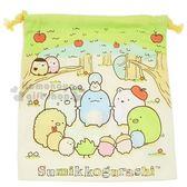 〔小禮堂〕角落生物 棉質束口袋《粉.蘋果樹.牽手》收納袋.雙面圖案 4930972-46500