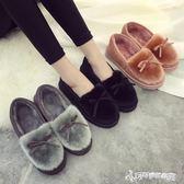 毛絨鞋 秋冬季棉拖鞋女包跟厚底毛絨保暖居家室內外月子鞋豆豆鞋軟底棉鞋 Cocoa