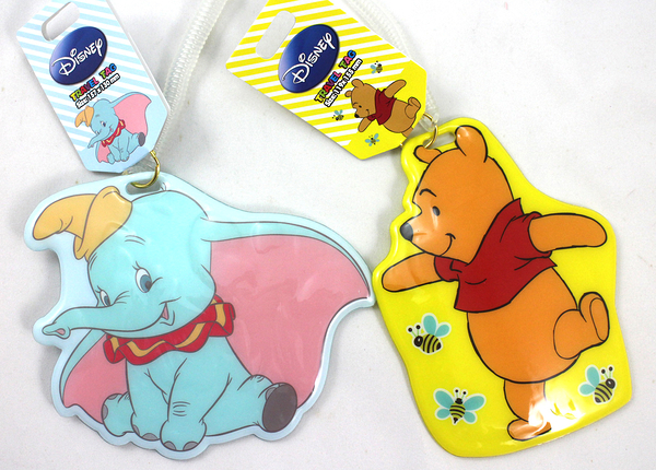 【卡漫城】 Disney 行李 吊牌 二款選一 ㊣版 維尼熊 Winnie Pooh Dumbo 大象 掛牌 伸縮 L2