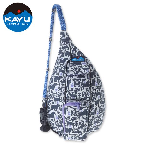 【西雅圖 KAVU】 Mini Rope Bag 休閒肩背包  炭畫寓言 #9150