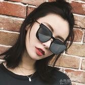 墨鏡女潮2019新款網紅太陽鏡方形大框偏光鏡韓版復古圓臉太陽眼鏡『小宅妮時尚』
