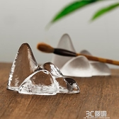 玻璃筆擱茶擱筆架山毛筆展示架筆掛書法工具筷托茶托文房四寶擺件 3C優購