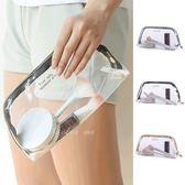 果凍包 手拿包 收納 洗漱 旅行包 筆袋 透明袋 防水包 果凍透明化妝包(大) ✭米菈生活館✭【B07】
