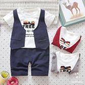 超低折扣NG商品~嬰兒短袖套裝 假兩件短袖上衣 +七分褲 寶寶童裝 UG4639 好娃娃
