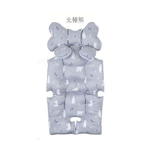 ☆愛兒麗☆韓國Aribebe 結合頸枕+推車襯墊 3D雙面全身包覆墊(厚)一般棉-小象款