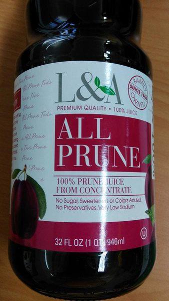 歐納丘 L﹠A純天然黑棗汁(946ml)  12罐團購 效期2020年