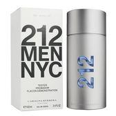 Carolina Herrera 212 都會男性香水100ML TESTER(環保盒/有蓋)【UR8D】