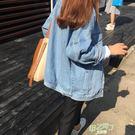 薄外套 春秋季新品bf風寬鬆百搭正韓薄版夾克上衣長袖原宿牛仔外套女