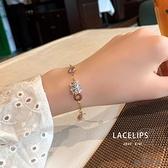 高級感輕奢鈦鋼不褪色羅馬數字小蠻腰手鏈設計手環女【貼身日記】