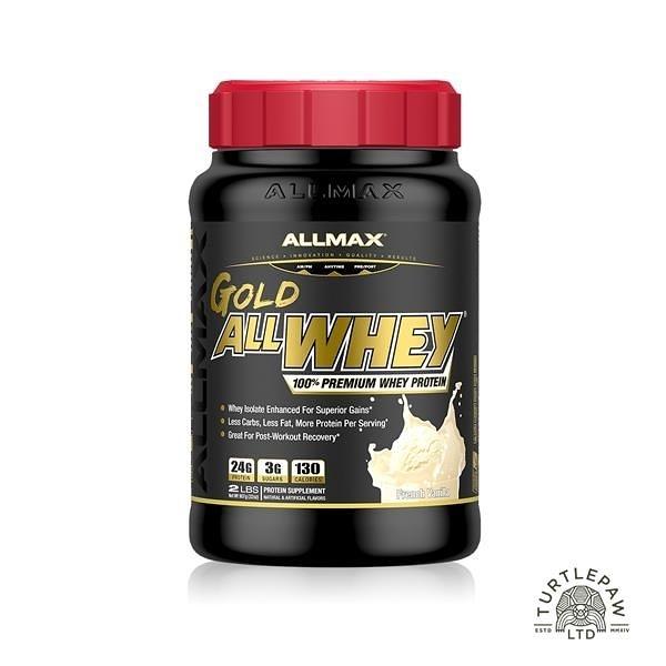 【南紡購物中心】【加拿大ALLMAX】奧美仕金牌乳清蛋白香草口味飲品1瓶 (907公克)