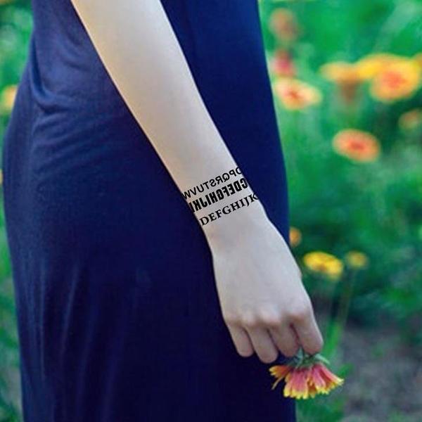 薇嘉雅  英文字母  紋身貼紙 HM606
