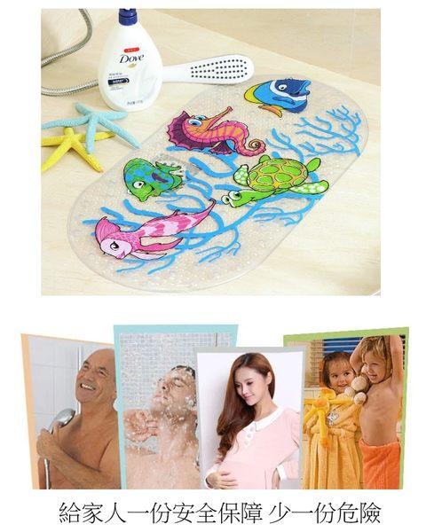 可愛卡通造型浴室防滑墊-底部吸盤款