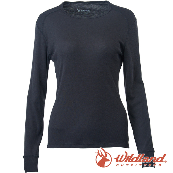 【wildland 荒野】女 Highest彈性圓領保暖衣『黑色』H2663 戶外 休閒 運動 冬季 保暖 禦寒 內著