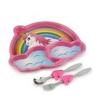 KIDS FUNWARES系列-造型兒童餐盤組-彩虹小馬[衛立兒生活館]