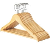 實木衣架子成人服裝店兒童木頭衣撐木質衣掛衣架衣服撐子家用