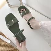 淑女涼鞋女夏季新款時尚平底涼鞋學生兩穿拖鞋女後絆帶涼鞋  【快速出貨】時尚