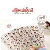 [拉拉百貨]momoi 手帳貼紙 韓國女孩 透明 貼紙 裝飾貼 日記貼紙