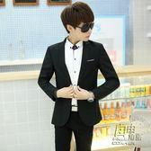男士小西服韓版修身秋季商務休閒青少年學生職業西裝帥氣外套上衣 自由角落