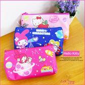 Hello Kitty 凱蒂貓 美樂蒂 正版 扣式化妝包 鉛筆袋 觸控手機包 文具 B01798