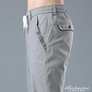 格紋商務休閒西褲2020新款寬鬆直筒上班工作灰色高腰西裝褲子男士 黛尼時尚精品
