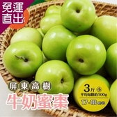 家購網嚴選 屏東高樹牛奶蜜棗 3斤X4盒 小 (約17-18顆/盒)【免運直出】
