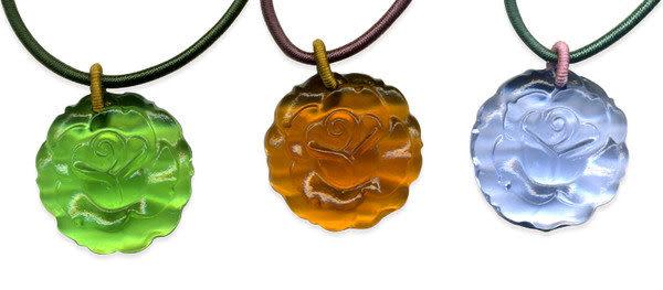 鹿港窯~居家開運水晶琉璃項鍊~玫瑰 附精美包裝◆免運費送到家◆