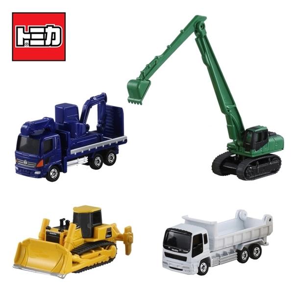 【日本正版】TOMICA 建設車輛組5 推土機 挖土機 砂石車 工程車 玩具車 多美小汽車 - 856566