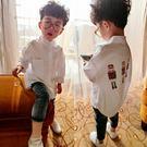 男童立領白襯衫2018春裝新款童裝兒童寶寶長袖襯衣春秋小童上衣潮 桃園百貨