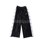 Nike 長褲 NSW Icon Clash Popper Pants 黑 白 女款 排扣 寬褲 運動休閒 【PUMP306】 CI9973-010