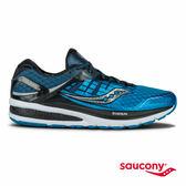 SAUCONY TRIUMPH ISO 2 緩衝避震專業訓練鞋-藍x黑x銀
