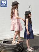 維尼日記夏季女童連身裙豎條紋韓版洋氣中大兒童蛋糕裙子 港仔會社