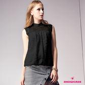 【SHOWCASE】甜美珍珠領蕾絲無袖上衣(黑)