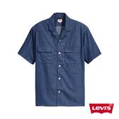 Levis 男款 短袖牛仔襯衫 /Oversize 寬鬆版 / CoolMax吸濕排汗 / 原色丹寧