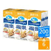 福樂雙麥牛乳200ml x6入【愛買】