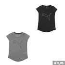 PUMA 女 訓練系列大跳豹麻花短袖T恤(F) 吸濕 排汗-52032003/52032007