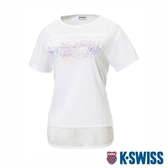 K-SWISS T-Shirt 韓版短袖T恤-女-白