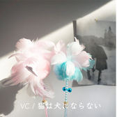 貓不理狗子新品手工自制仙女羽毛絨球鈴鐺逗貓棒寵物貓咪玩具柔軟   LannaS