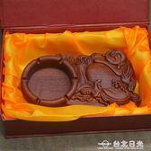 煙灰缸精品新古典擺件香花梨實木彌勒佛精雕創意煙灰缸商務送禮品  台北日光