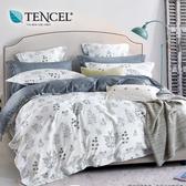 【貝兒居家寢飾生活館】100%萊賽爾天絲兩用被床包組(雙人/簡愛)