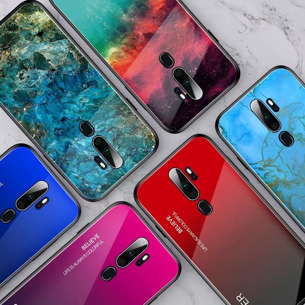 OPPO A9 2020 Reno 2 渲染 玻璃殼 手機殼 全包邊 軟邊 可掛繩 保護殼