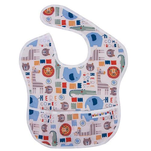 Baby City 防水圍兜(6~24個月)-卡其色動物