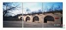 【優樂】無框畫裝飾畫陜北窯洞世界風景畫客廳沙發背景裝飾三聯畫