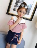女童套裙中大童韓版短袖兩件套潮兒童洋氣時髦吾本良品