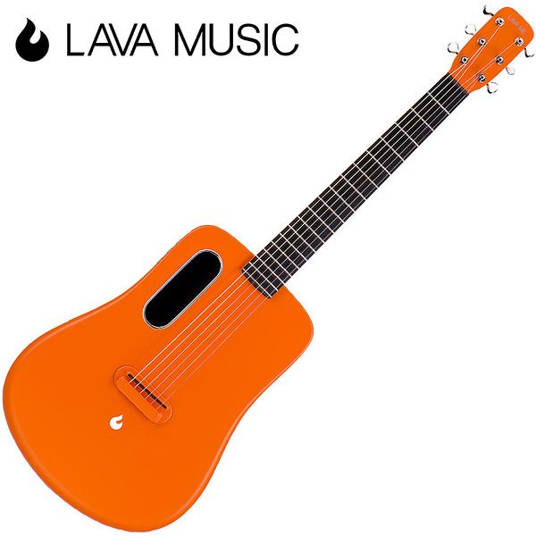 LAVA ME2 拿火吉他-36吋旅行吉他/碳纖維材質/插電加震款/橘色