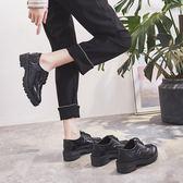 皮鞋女-鞋子女2019春季新款潮百搭韓版學生高跟休閒單鞋英倫風小皮鞋 降價兩天