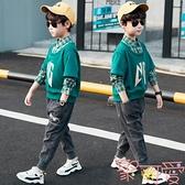 童裝男童套裝春秋中大兒童運動兩件套休閒韓版潮【聚可愛】
