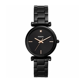 【Fossil】Carlie簡約優雅晶鑽時尚摩登腕錶-低調黑/ES4442/台灣總代理公司貨享兩年保固