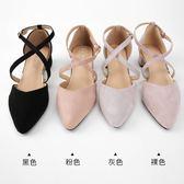 新款包頭涼鞋女夏單鞋女尖頭百搭韓版粗跟